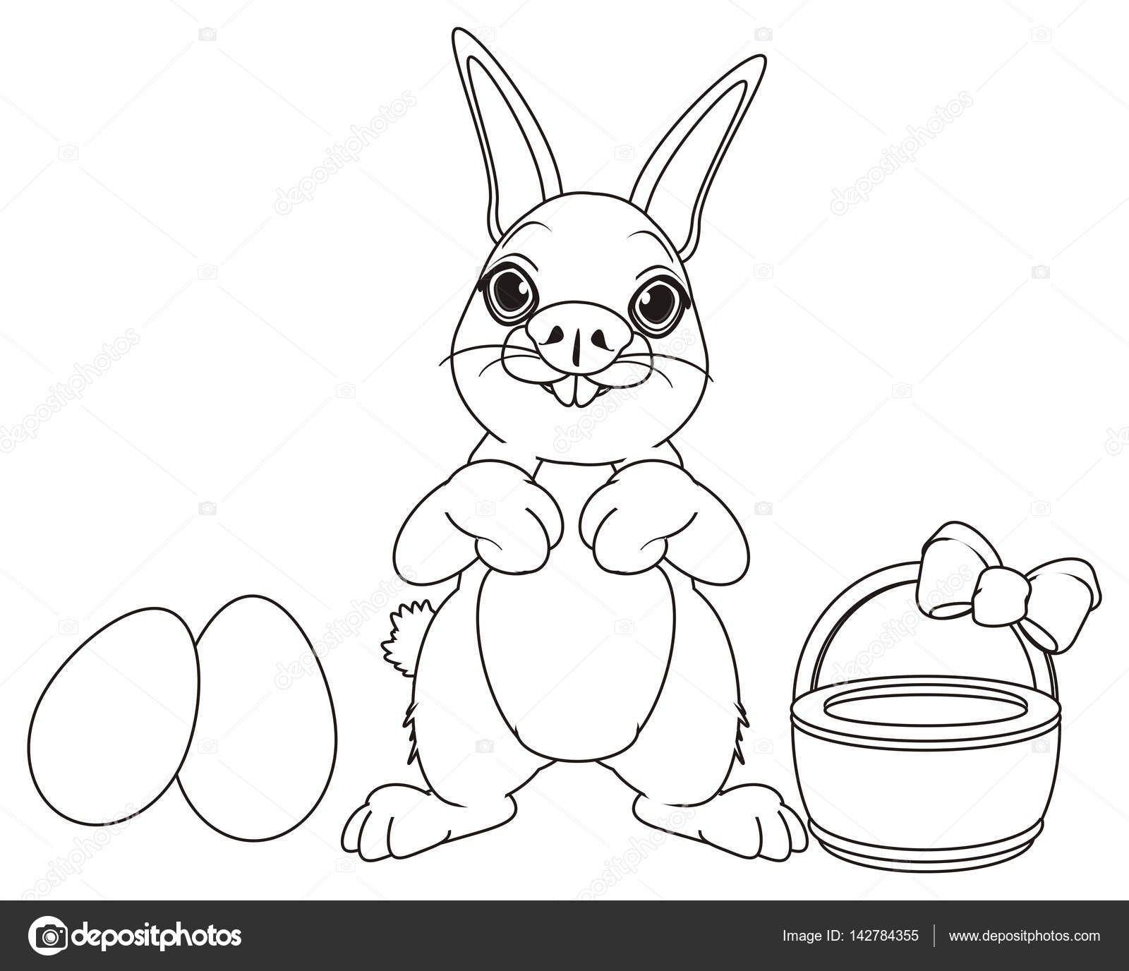 Frisch Osterhase Mit Korb Malvorlage Farbung Malvorlagen Malvorlagenfurkinder Osterhase Malvorlagen Hase
