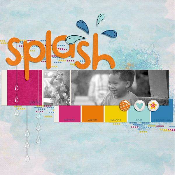Splash paint swatch templates by Sahlin Studio Waterpark by Sahlin ...