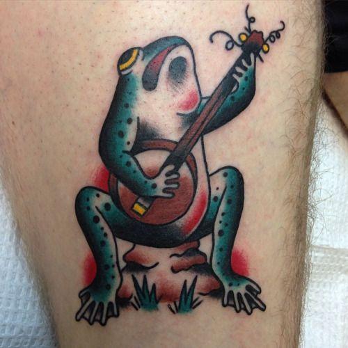 Traditional Frog Tattoo Google Search Frog Tattoos Tattoos Tattoo Shop