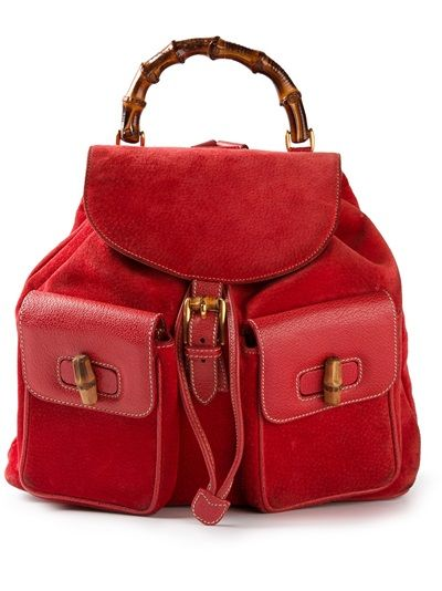 5680ea5bdd74 Gucci Bamboo Detailed Backpack | Red Passion | Bags, Vintage ...