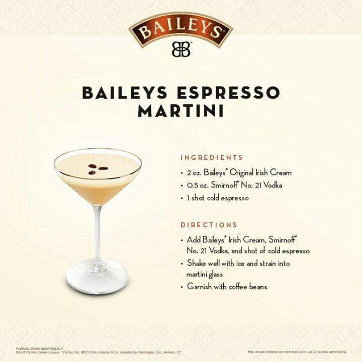 Baileys Espresso Martini Espresso Martini Espresso Martini Recipe Fruity Cocktails