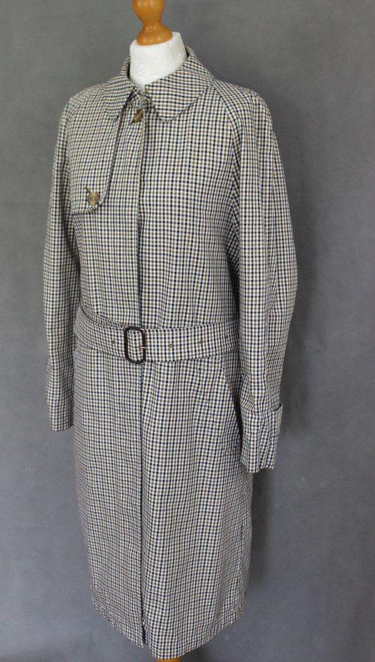 7acd434e11bf17 AQUASCUTUM Ladies Vicuna Club Check Pattern MAC   TRENCH COAT ...