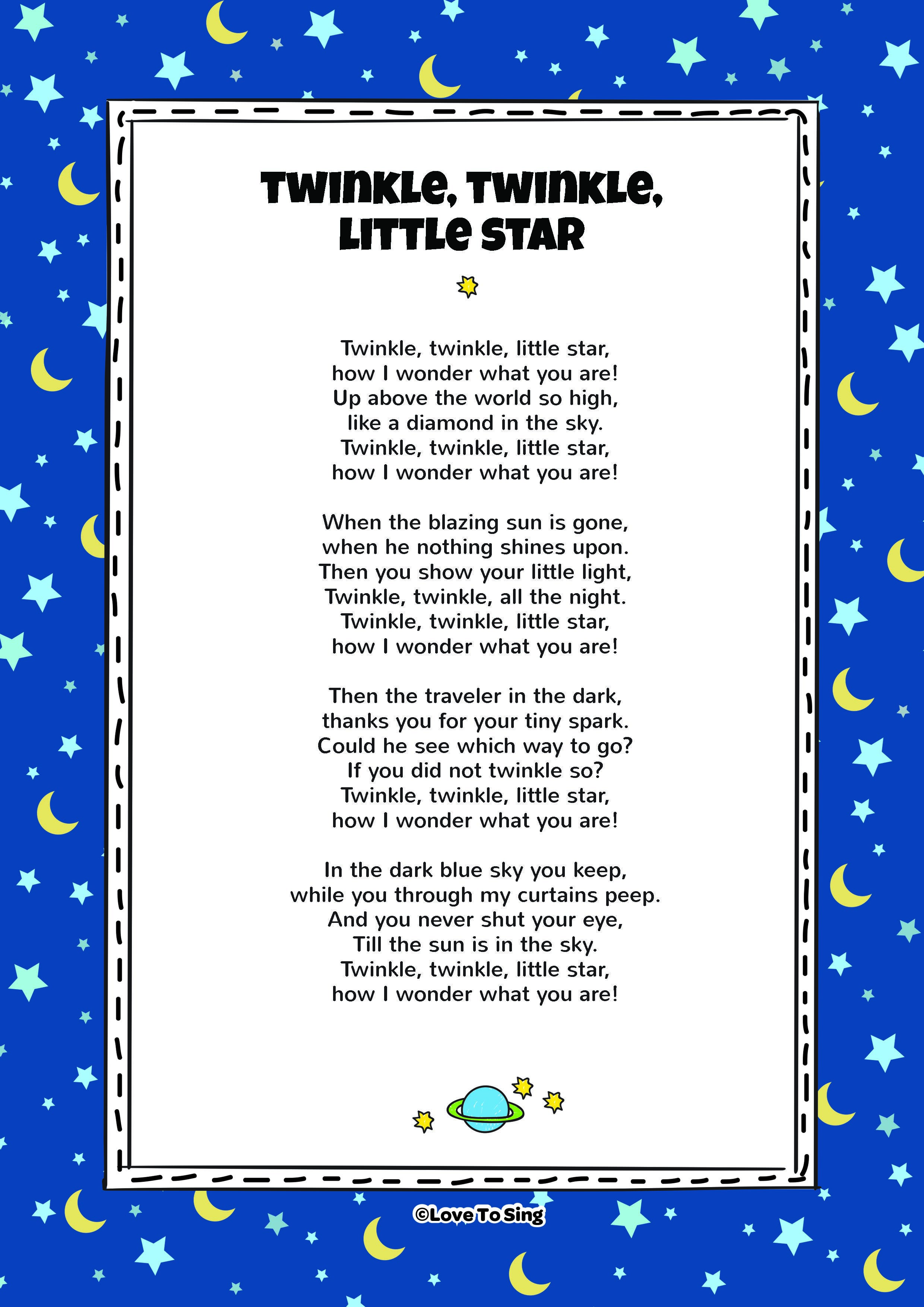 Lirik Twinkle : lirik, twinkle, Twinkle, Little, Video, Lyrics, Activities!, Nursery, Rhymes, Lyrics,, Children, Songs