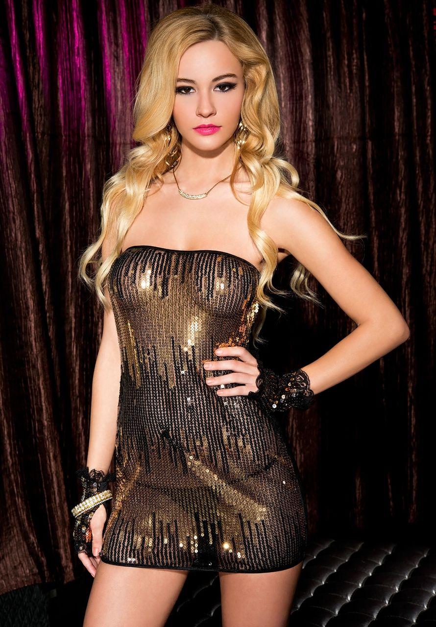Collar sleeves mesh clubwear dancer stripper