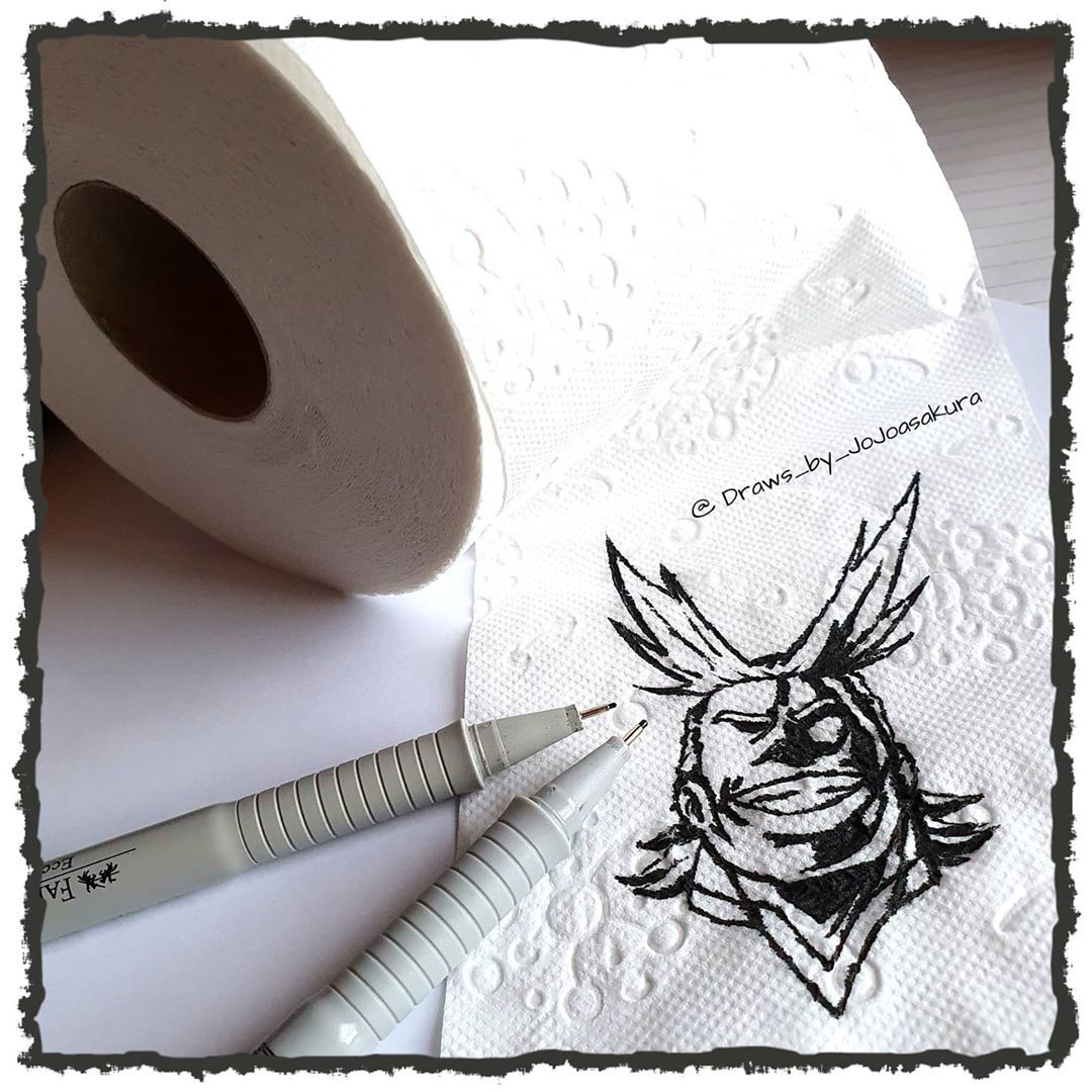 """🐉 Offline / 🇩🇪 / 🐉 auf Instagram: """"《 All Might - Toilet Paper version #toiletpaperartchallenge !!! First: I hope everyone of you will made it save through this f*cking…"""""""