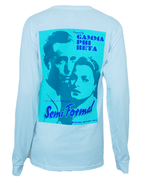 Gamma Phi Beta Semi Formal Long Sleeve by Adam Block Design | Custom Greek Apparel & Sorority Clothes | www.adamblockdesign.com