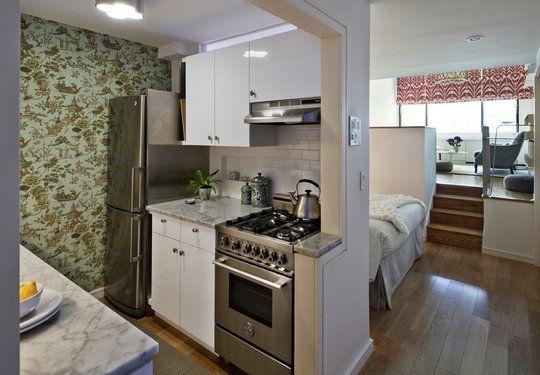 Open Space Studio Apartment In New York | Studio Apartment, Studio Apartment  Kitchen And Kitchen Wallpaper