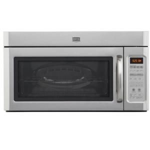 Maytag 2 0 Cu Ft Over The Range Microwave In Stainless Steel With Sensor Cooking