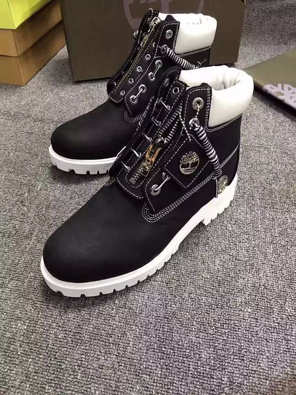 New Timberland Boots For Men 6 Inch Zipper - Black and White  e3eef97c7989