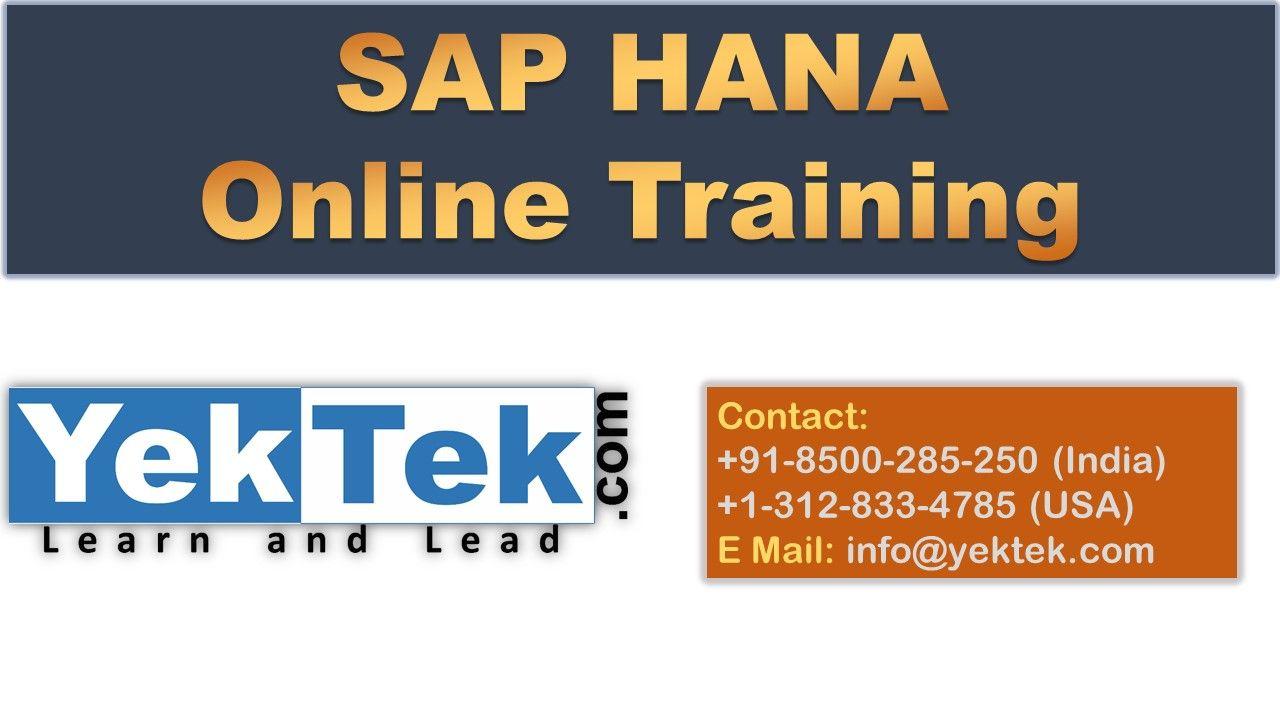 Sap Hana Online Training Sap Hana Interview Questions Hana