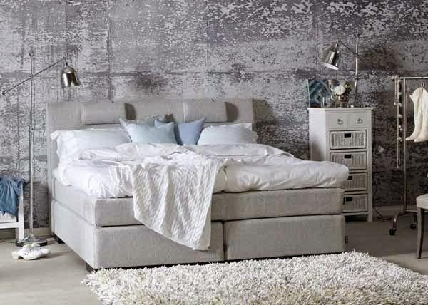 Interieur Slaapkamer Behang : Betonlook behang slaapkamer slaapkamer interieur