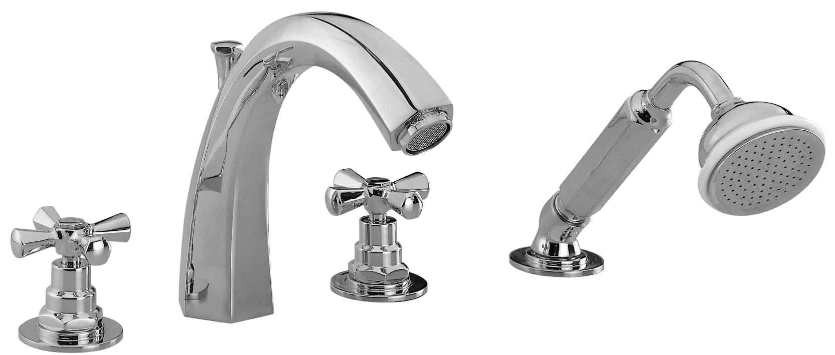 Rim Mounted 4 Hole Bath Mixer Bath Mixer Faucet Deco