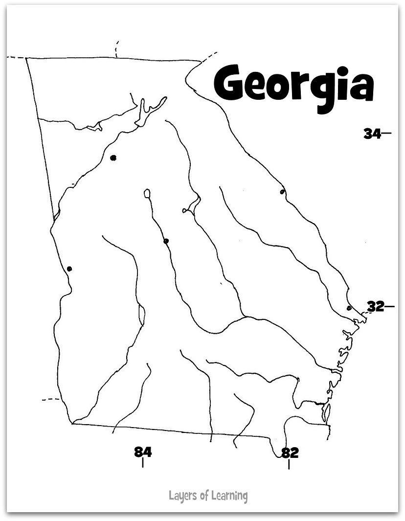 Georgia Map Science Pinterest Social Studies And Learning - Georgia map activity tier 2