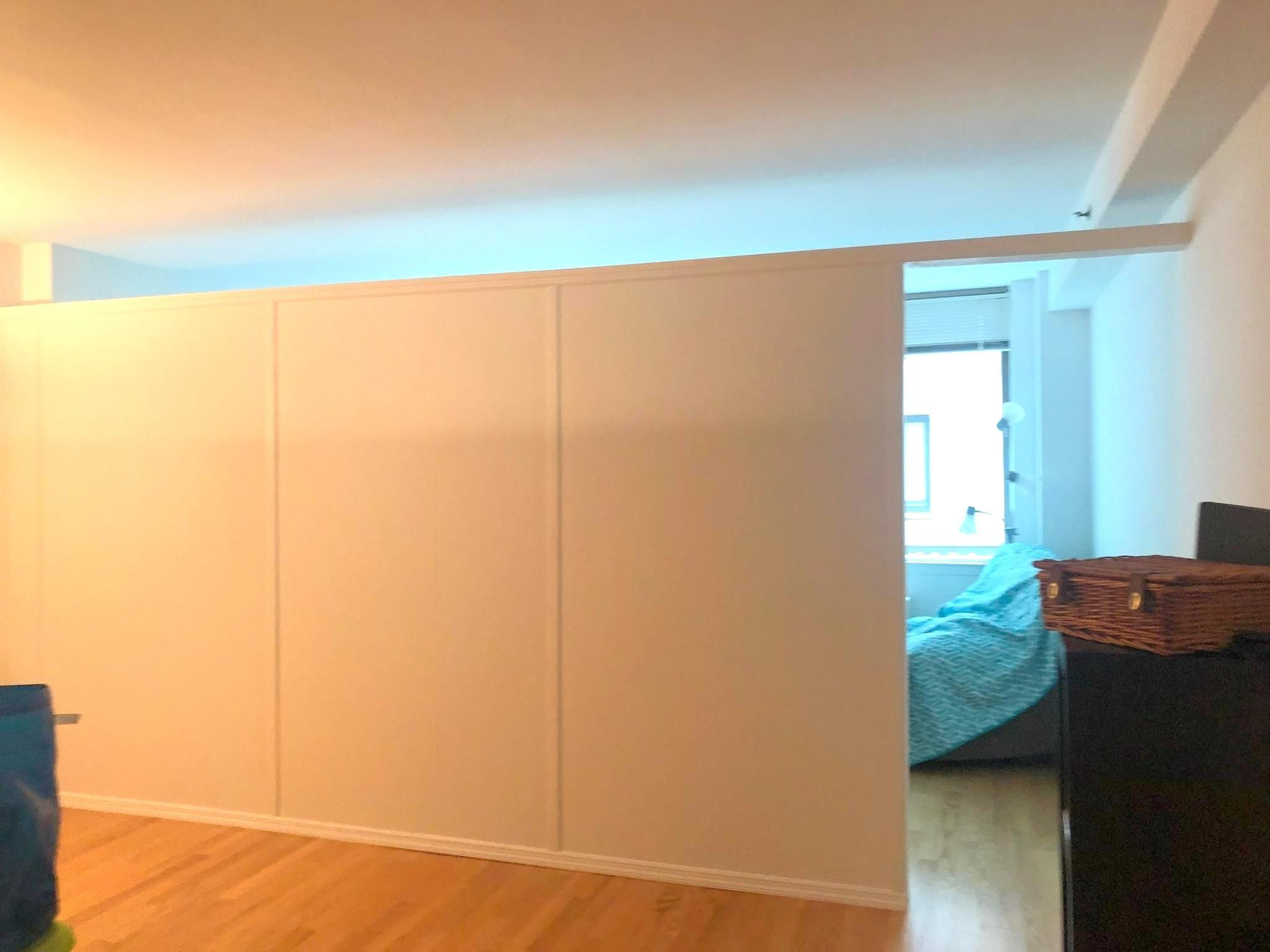 Standard Temporary Apartment Wall Call Us For All Your Custom Room Partition And Storage Wall Inquir Temporary Wall Divider Room Divider Walls Apartment Walls