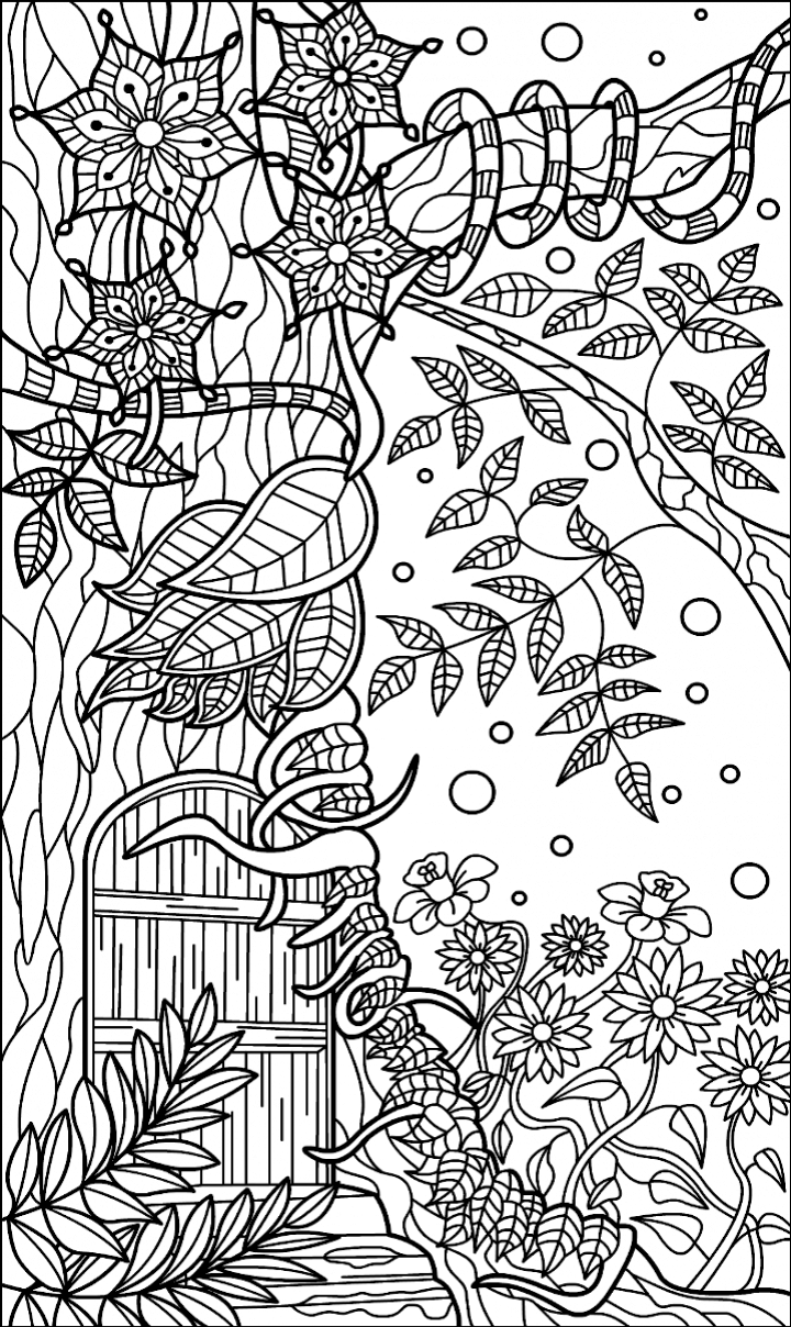 Pin by Ariel on aaa1 COLORiNG (With images) | Forest ...