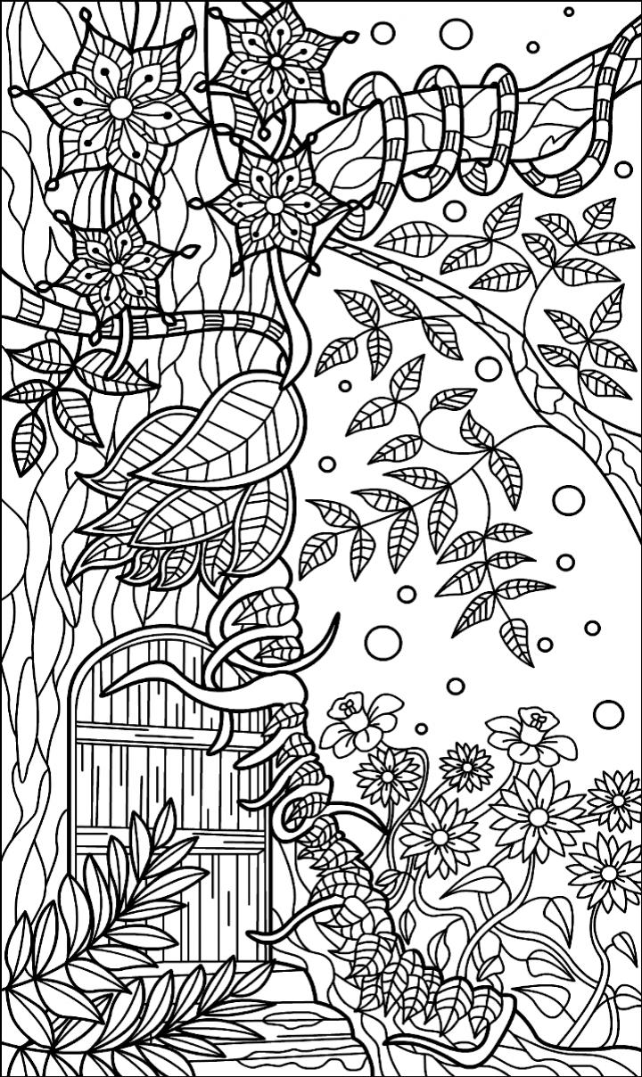 Pin de Barbara en coloring garden | Pinterest | Fruta, Flores y Dibujo