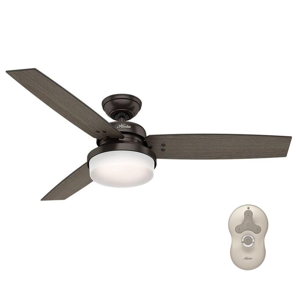 200 Reverse Not On Remote Can Change Bulb Hunter Sentinel 52 In Led Indoor Premier Bronze Ceiling Bronze Ceiling Fan Ceiling Fan With Light Ceiling Fan