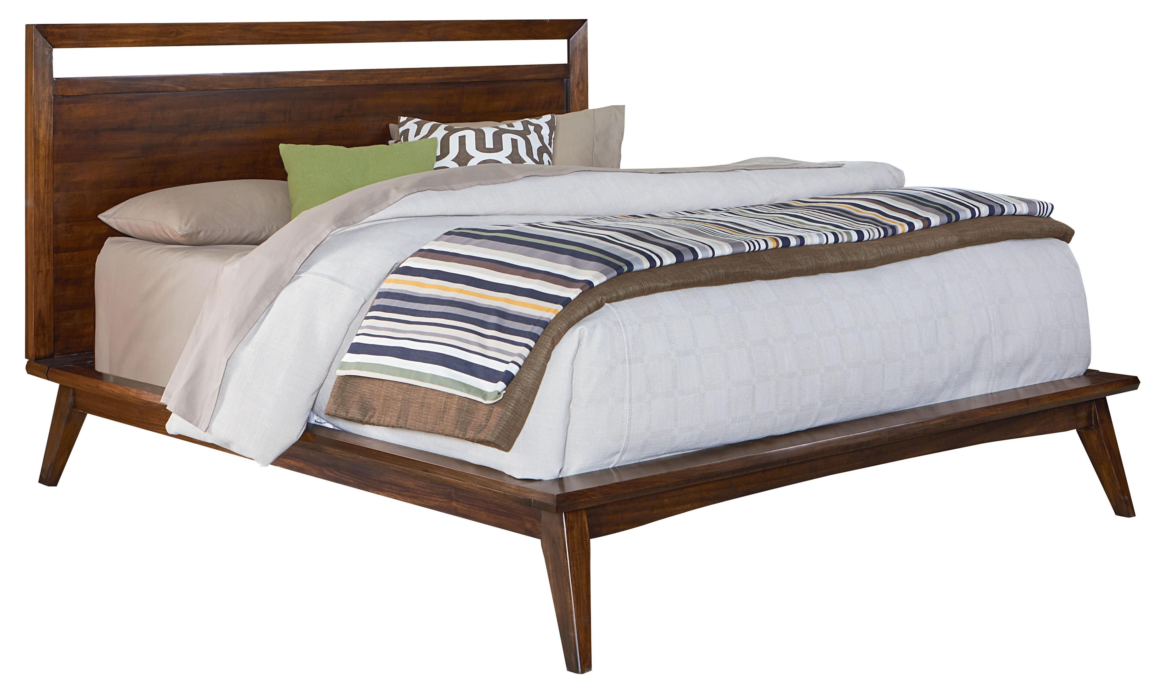 Gray Suede Fabric Upholstered Bed Frame With King Size Headboard