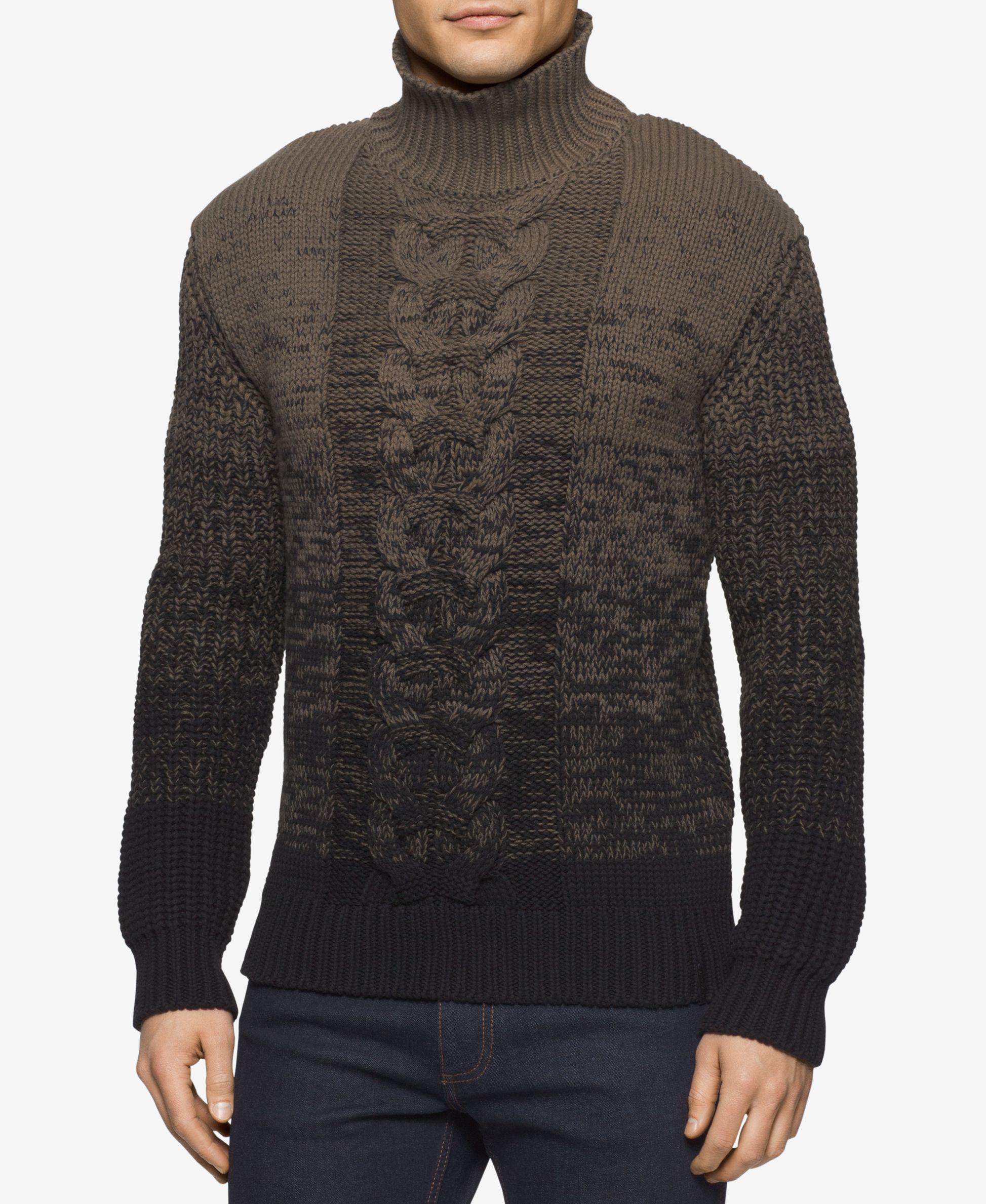 Calvin Klein Jeans Men's Ombre Turtleneck Sweater