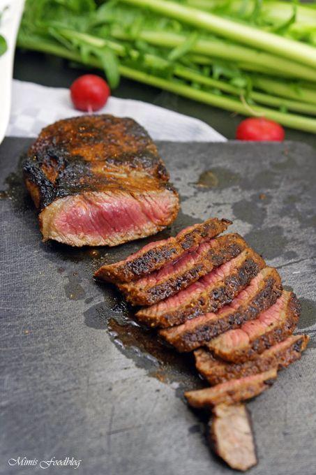 In Honig-Senf-Whiskey glasiertes Rumpsteak ~ saftig, aromatisches Steak - Mimis Foodblog