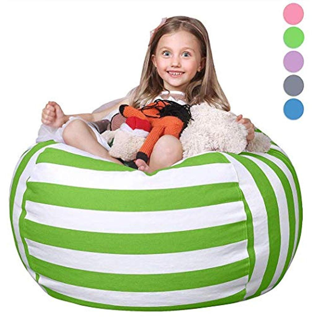 Sliwei Beanbag Chairs For Kids Multi Purpose Plush Toy Stuffed Storage Bag Seat Indoor Lighting Spec Bean Bag Chair Bean Bag Chair Covers Bean Bag Chair Kids