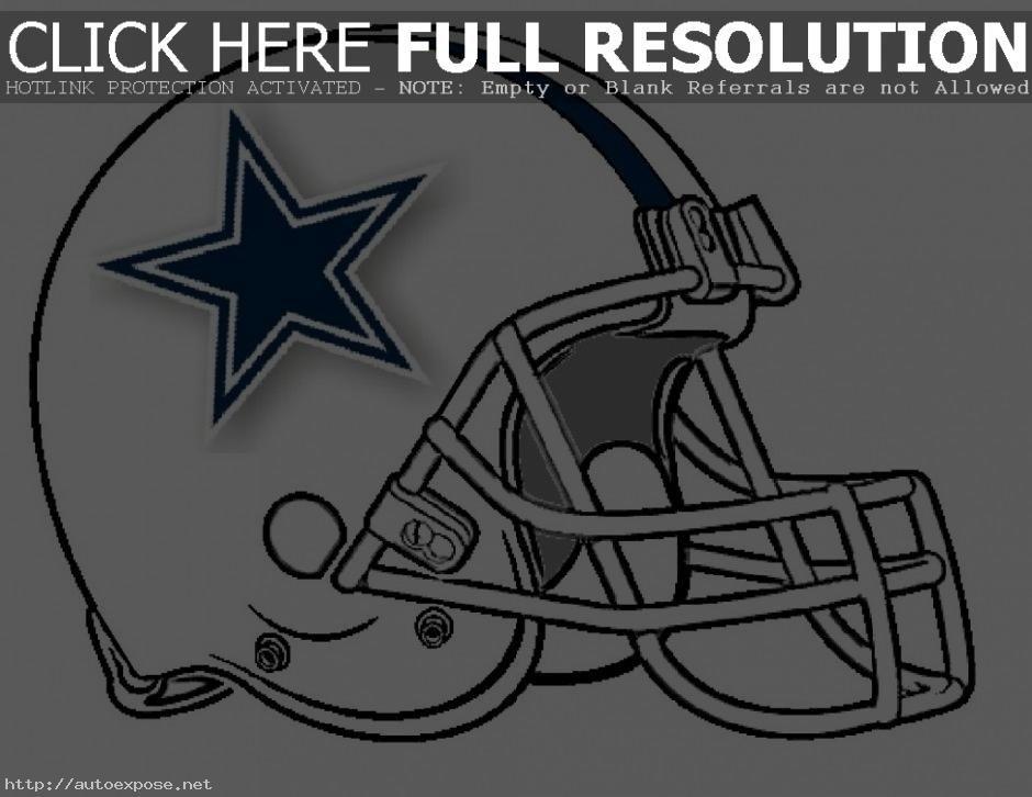 Magnífico Dallas Cowboys Helmet Para Colorear Bandera - Dibujos Para ...