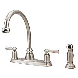 Moen Banbury Collection 2 Handle Kitchen Faucet With Side Spray