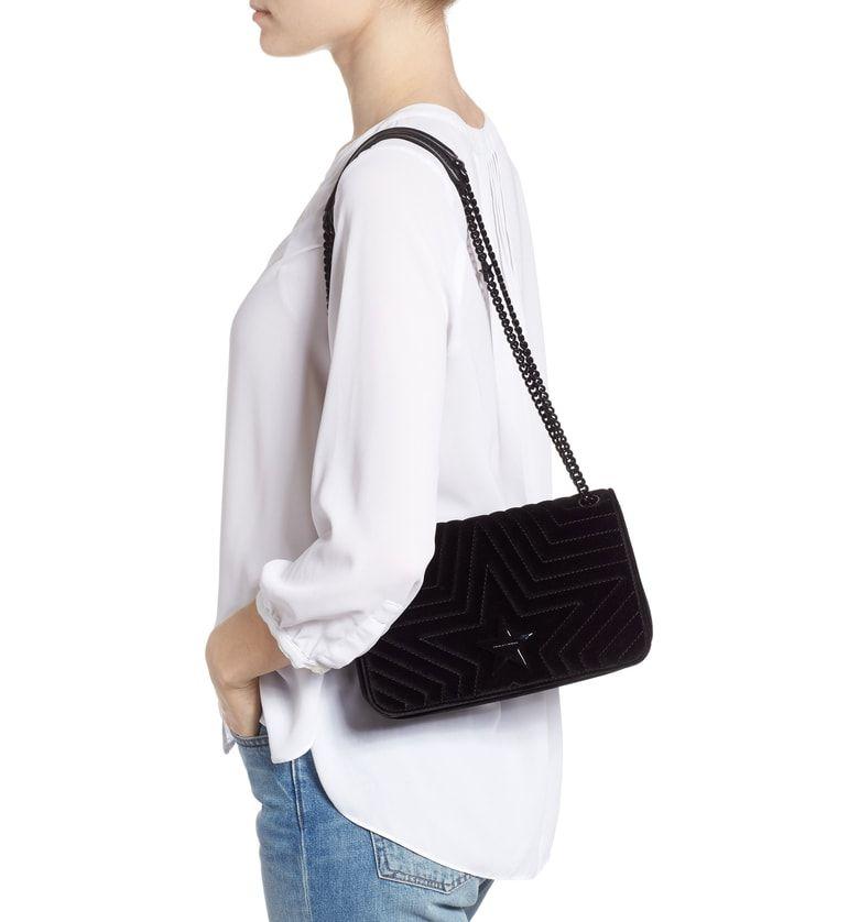 Medium Velvet Star Shoulder Bag 5bcddef608755
