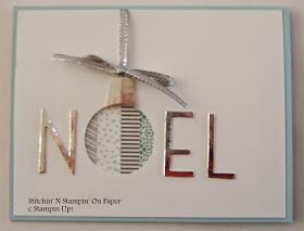 Stitchin' n Stampin' on Paper: Noel - Washi Tape card