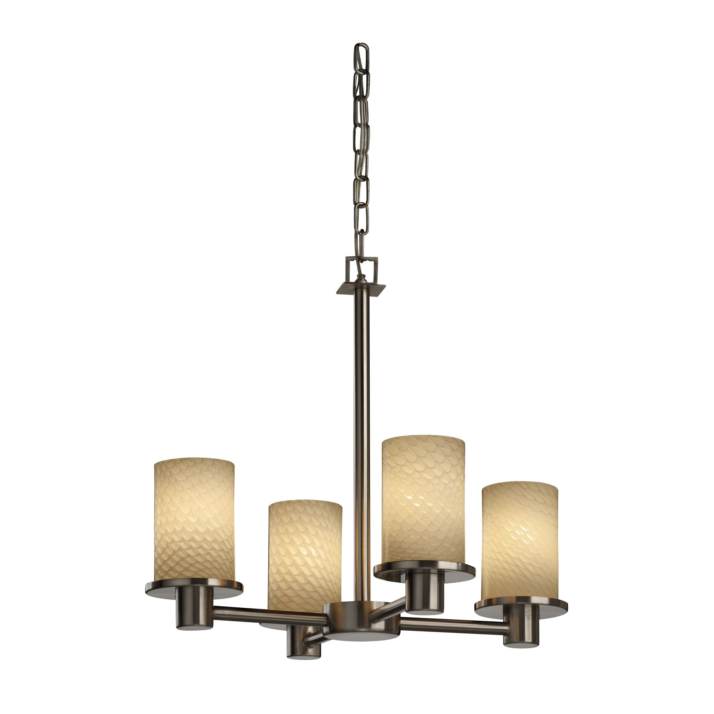 Justice Design Group Fusion 4-light Nickel Rondo Chandelier