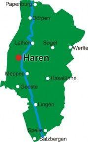 Emsland Karte.Map Emsland My Germany Ems Emsland Und Karten