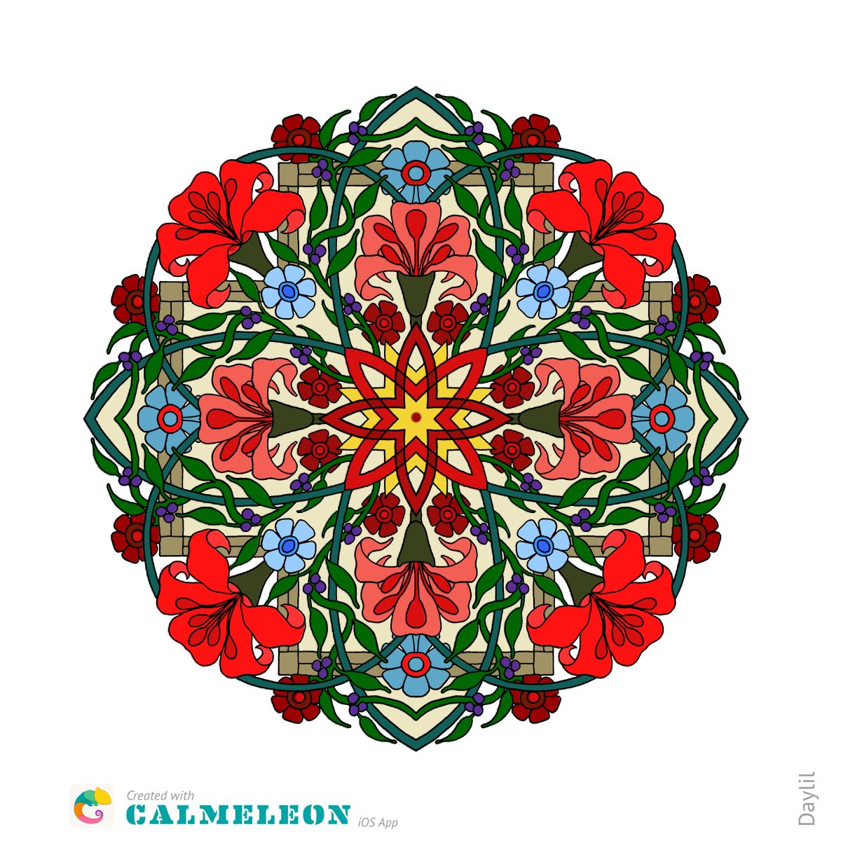 Calmeleon Coloring Book For Adults On The App Store