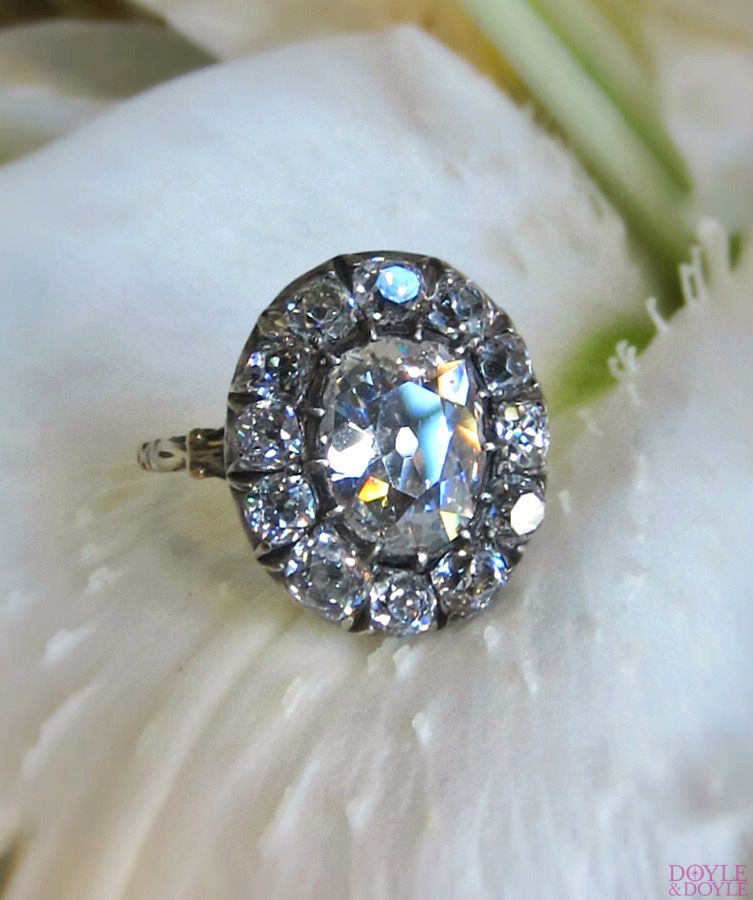 rings rose engagement flower georgian diamond products butter lane antiques ring cut