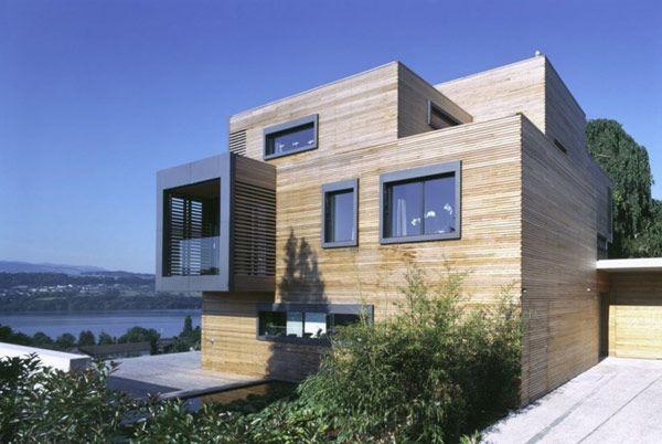 Original Modern Residence Easily Mistaken for a Habitable Library #architecture