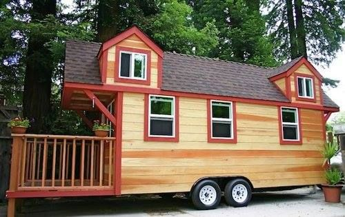 Tiny House Trailer Rv House Made Of Redwood Custom Fold Up Deck Tiny House Trailer Best Tiny House Tiny House On Wheels