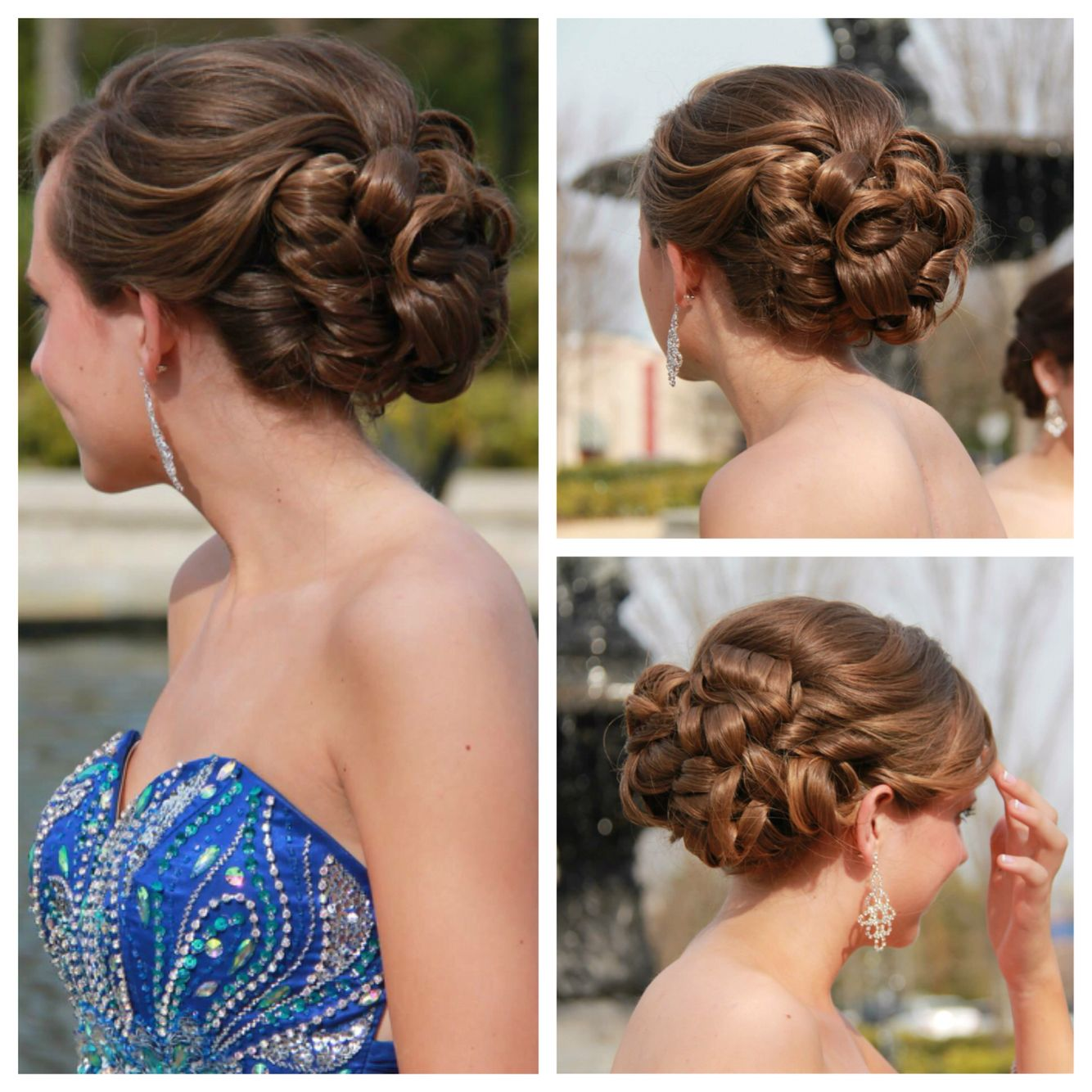 Prom Updo For Long Thick Hair Thick Hair Styles Long