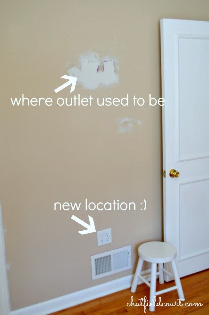 moving an electrical outlet diy electrical outlets diy home rh pinterest com