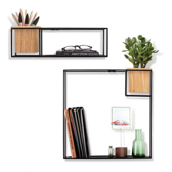 umbra cubist shelf small designer wire shelf