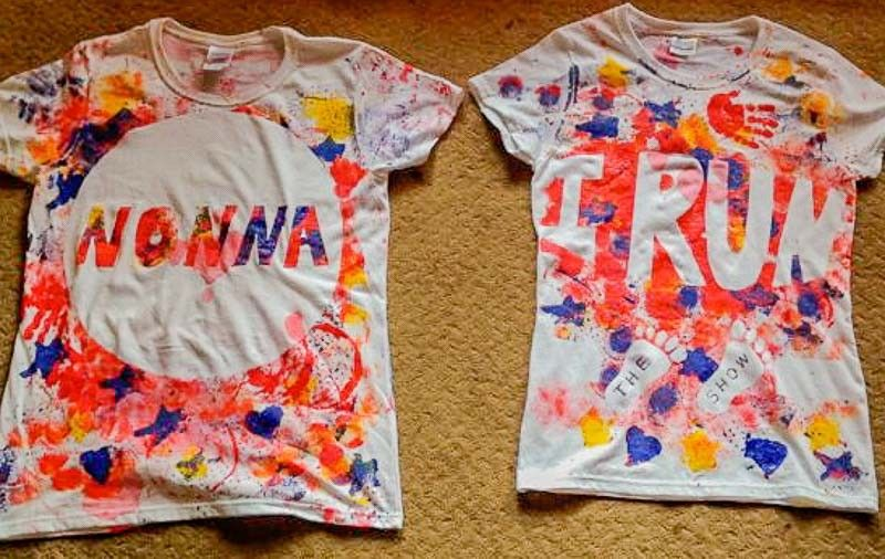 b662bd112257e Painted T-Shirts Toddler-Style | paint t shirt diy | Crafts for kids ...
