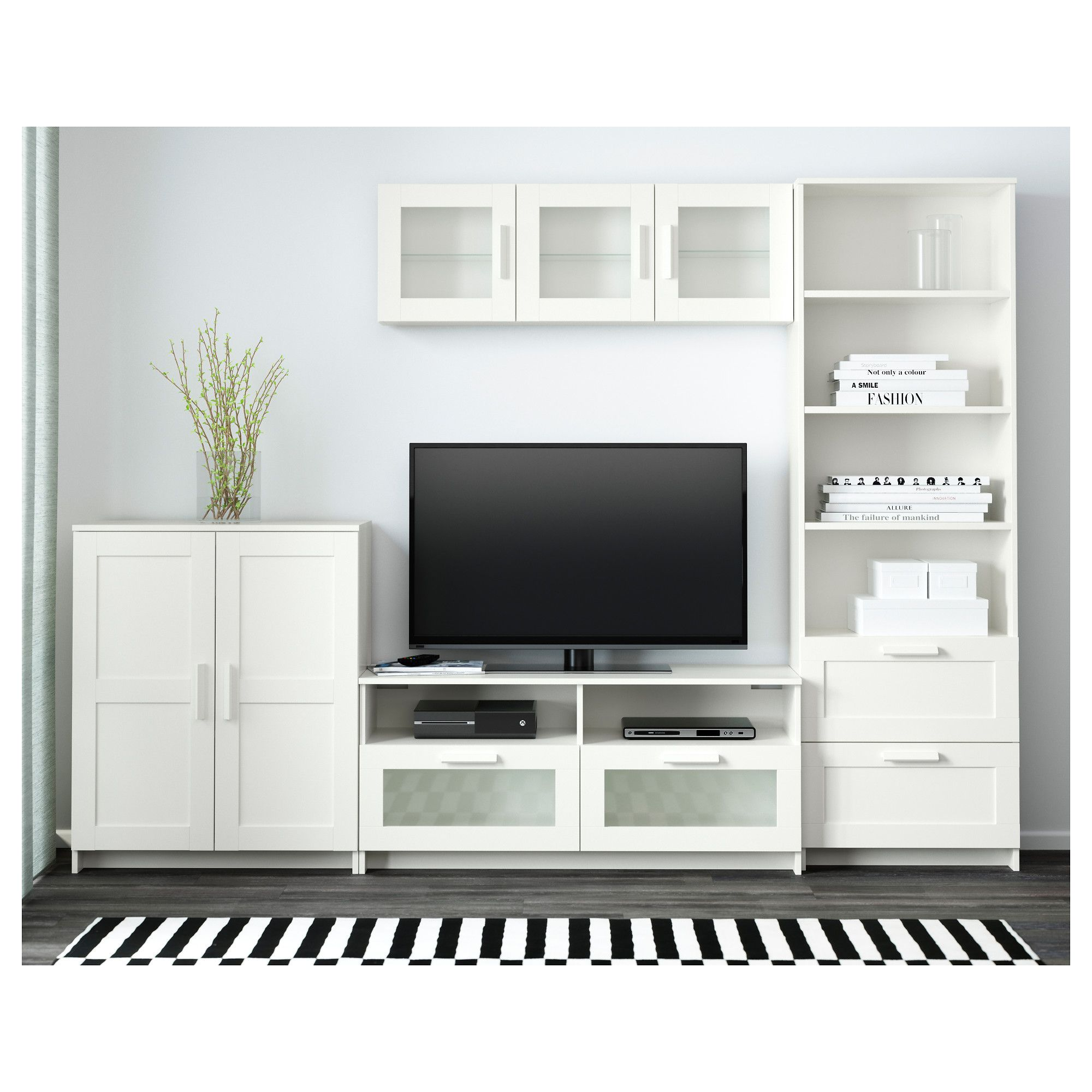 Ikea Brimnes Tv Storage Combination White Storage Ideas Tv