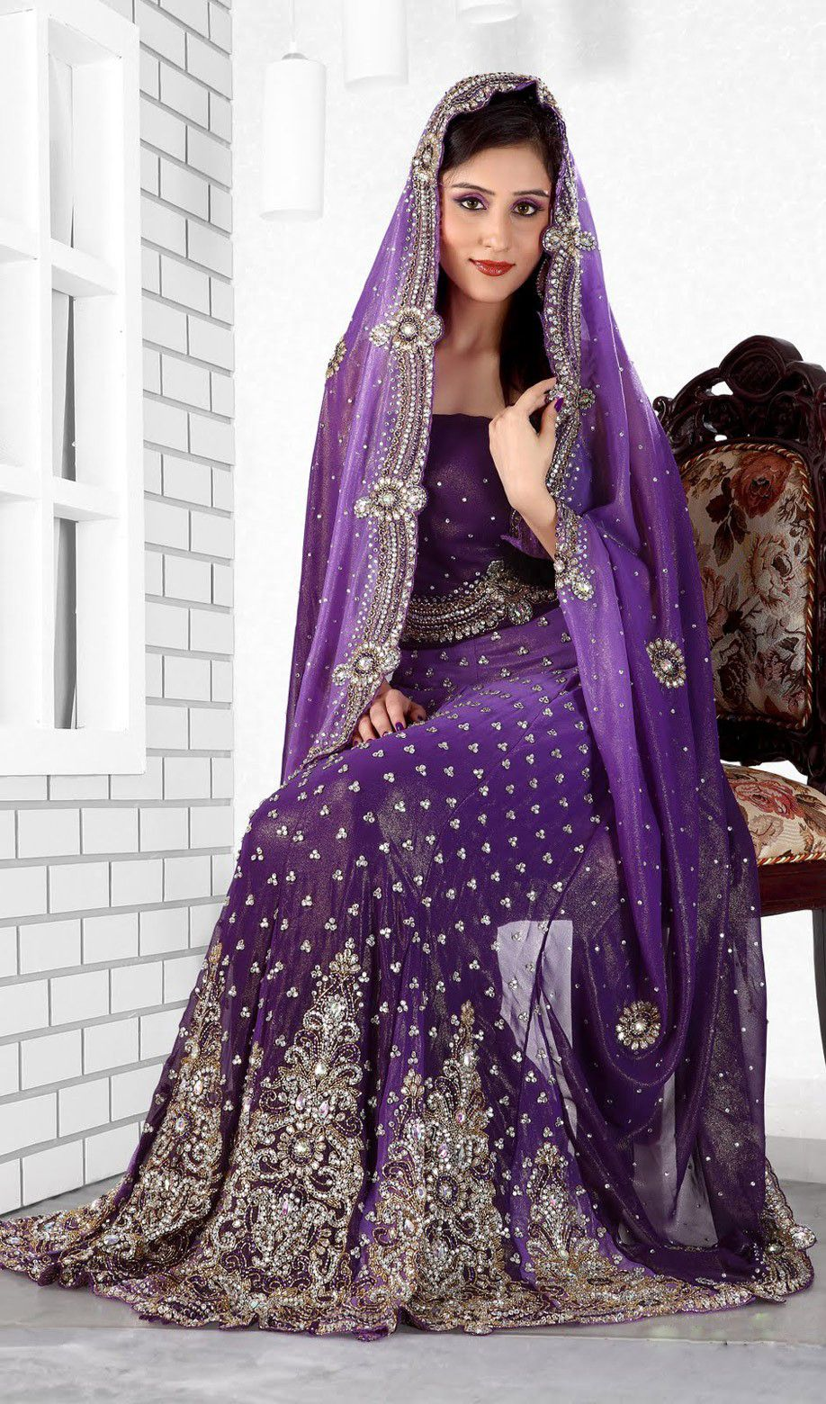 Purple Color Lengha Saree ♥✤ | Vestidos | Pinterest | Púrpura ...