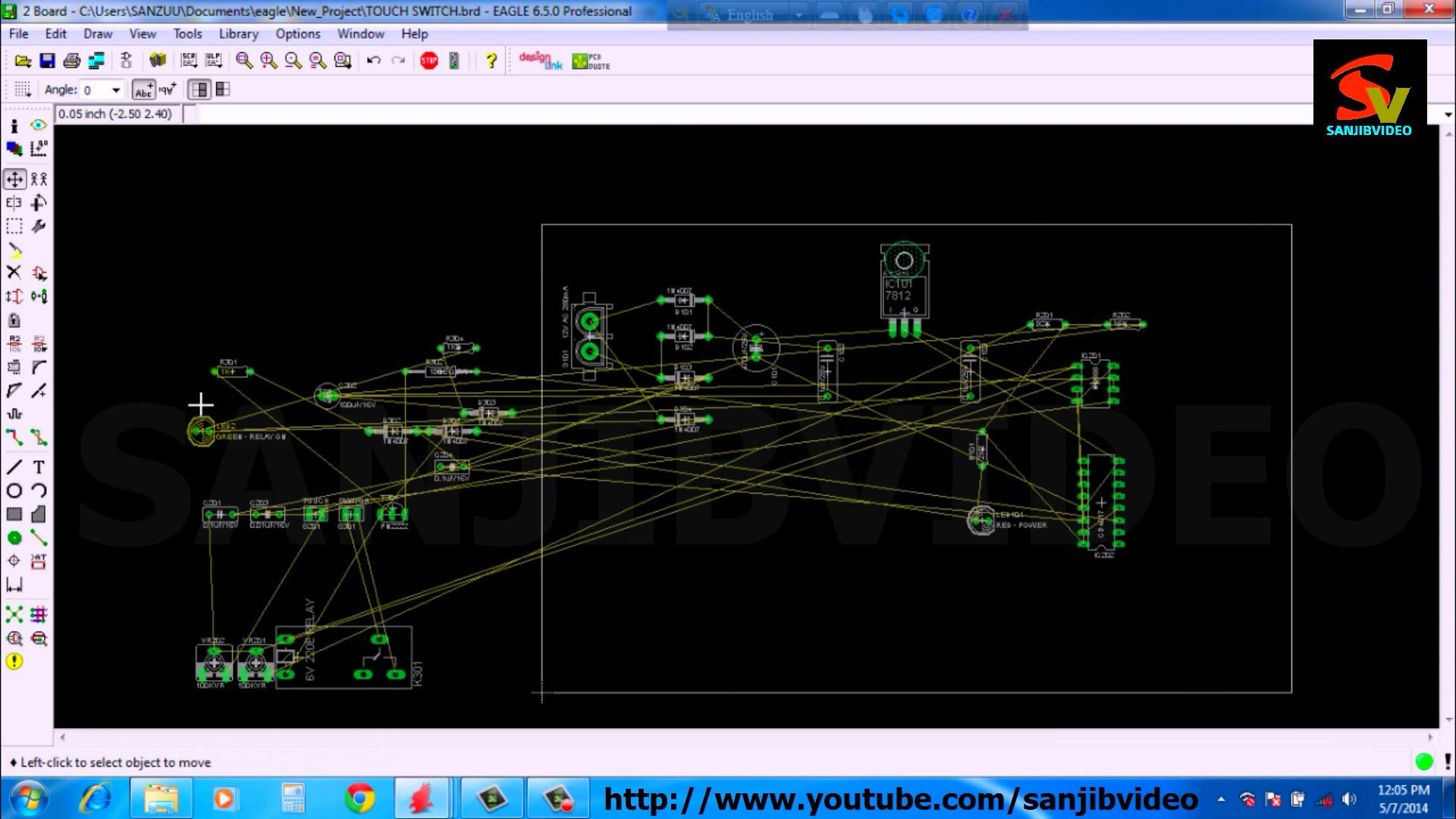 EAGLE # 7 of 12 : PCB LAYOUT ( Rearrange Component ) : How to Design ...