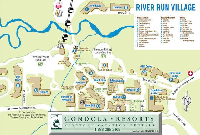 map of keystone and resorts | colorado resort maps of ...