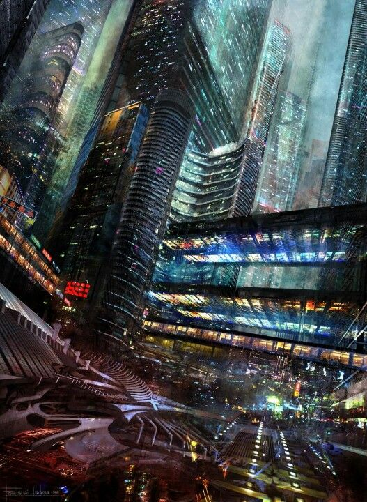 #futuro #41 : las ciudades son tan grandes y como ya usamos miniaeronaves como carros, hay un submundo underground, diferenciado de la urbe nice mas aerospacial