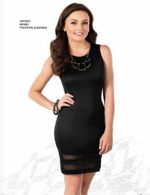 Angelique Boyer luce vestido corto color negro
