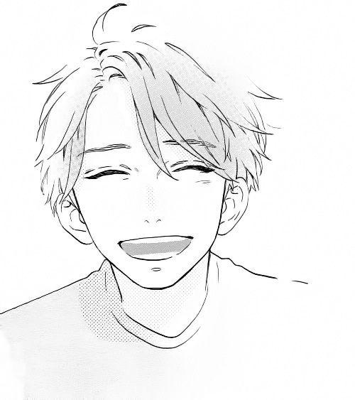 Hirunaka No Ryuusei Smile Drawing Anime Boy Sketch Manga Drawing