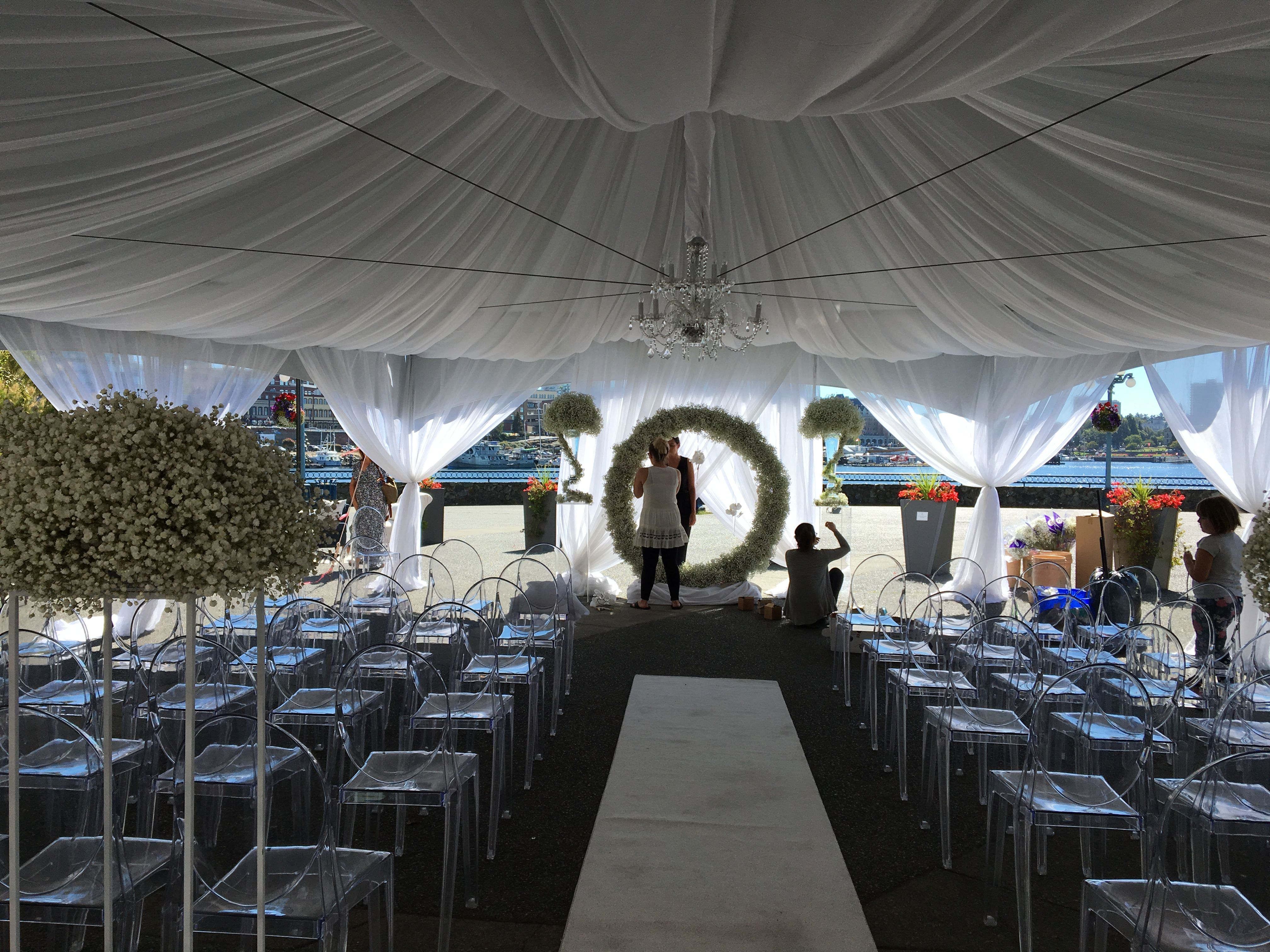 Wedding tent decoration images  Pin by Designer Weddings on Wedding Tent Decor  Pinterest