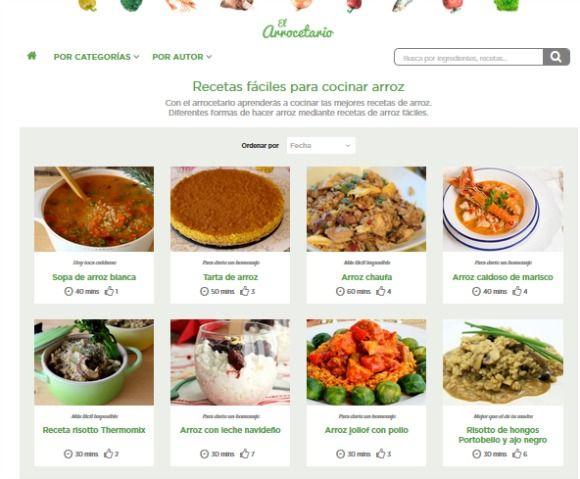 El Arrocetario: la web de recetas de arroz | Cereales ...