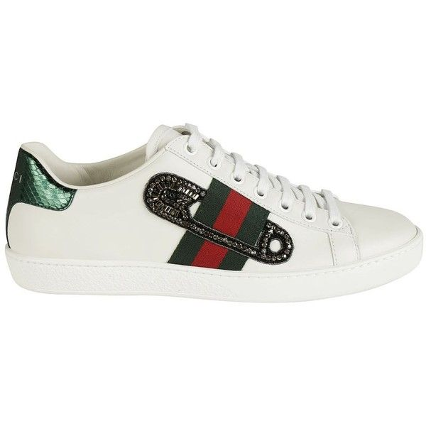 8831e50af07 Gucci Gucci Ace Embroidered Sneakers ( 515) ❤ liked on Polyvore featuring  shoes