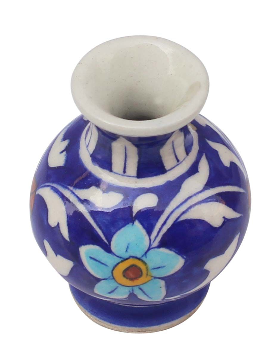 Bulk wholesale handmade 35 pot shaped ceramic flower vase in bulk wholesale handmade 35 pot shaped ceramic flower vase in blue white color reviewsmspy
